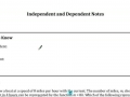 Independent and Dependent Notes