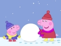 Peppa Pig Peppa Builds A Snowman