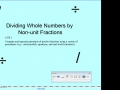 Dividing Whole Numbers by Non-unit Fractions