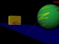 physics-Elastic Collision between a Block and Sphere