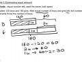 Mathematics Concept - Subtracting Equal Amount