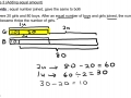 Mathematics Concept - Adding equal amount