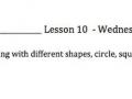 Lesson 10 Wednesday