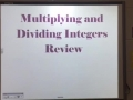 HW 08.04.16 Multiplying & Dividing Integers Review