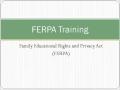Faculty FERPA Training