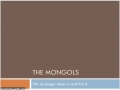 Mongols - Modern World