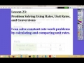 Engage NY Grade 6 Module 1 Lesson 23 - Problem Solving Using Rates and Conversions