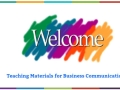 Teaching Materials for Business Communication
