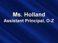 Ms. Holland Admin PSA