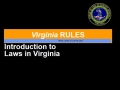 VBCPS - VA Rules (GOV) - Module 1- Introduction to Laws in Virginia 16-17