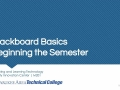 Beginning of the Semester Process - Blackboard MATC