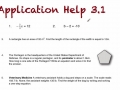 A1 Lesson 3.1 One Step Equations Application Walk Through