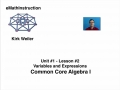 Common Core Algebra I.Unit 1.Lesson 2.Variables and Expressions
