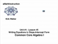 Common Core Algebra I.Unit 4.Lesson 5.Writing Equations of Lines.by eMathInstruction