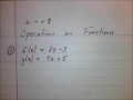 Arithmetic Operations on Functions