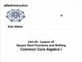 Common Core Algebra I.Unit 9.Lesson 3.Square Root Functions and Shifting