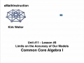Common Core Algebra I.Unit 11.Lesson 8.The Limits to the Accuracy of Our Models