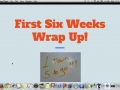 Math First Six Weeks Wrap Up