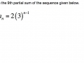 Geometric Sequence - 9th partial sum