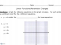 Linear Parameter Changes Notes
