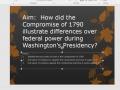 Module 3.7:  Washington's Presidnecy