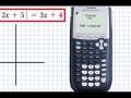 Solve Absolute Value equation using TI84 (Spanish)