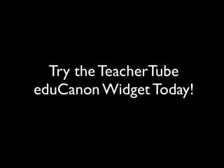TeacherTube eduCanon Widget