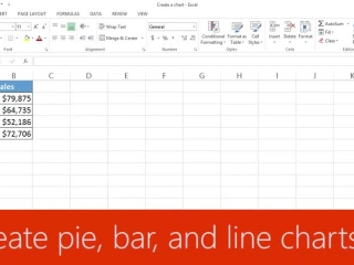 Create pie, bar, and line charts
