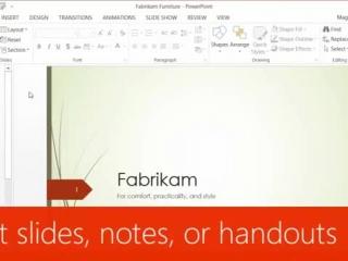 Print slides, notes, or handouts