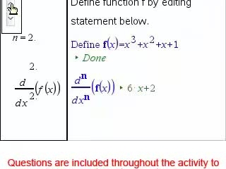 Higher Order Derivatives (CAS Tool) [Math Nspired Preview Video]