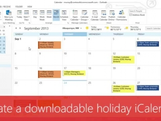 Create a downloadable holiday iCalendar (ICS)