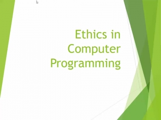 Ethics in Computer Programming