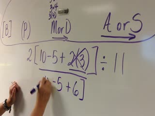 Order of operations example 2