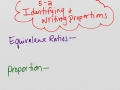 5-2 Identifying and Writing Proportions