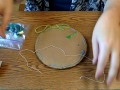 Adding Beads and String to Dream Catcher Weaving