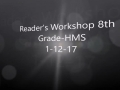 Reader's Workshop 8th Grade-HMS