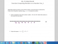 Exercises Comparing Numbers on a Number Line_1