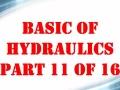 Basic Hydraulics Part 11