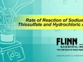 Rate of Reaction of Sodium Thiosulfate and Hydrochloric Acid
