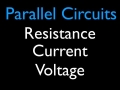 Calculating Voltage, Resistance and Current for Resistors in Parallel