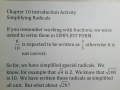 SSHSMATH - Ch 10 Introduction Activity