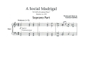 A Social Madrigal (Soprano Part)