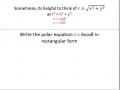 Changing Polar to rectangular equations