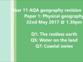 AQA A GCSE geography exam breakdown