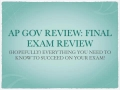Am. Government Final Review