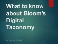 What to know about Bloom's Digital Taxonomy
