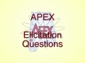 Elicitation questions as part of the Alliance for Physics Excellence
