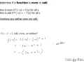 How to determine if a function is even or odd