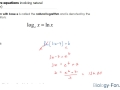How to solve equations involving natural logarithm (ln)