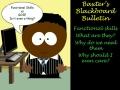 Baxter's Blackboard Bulletin - Introduction to Functional Skills